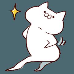 素直な猫(忙しそう)