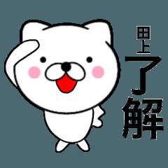 【田上】が使う主婦が作ったデカ文字ネコ