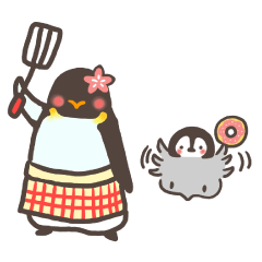 主婦さんペンギンのまいにちスタンプ